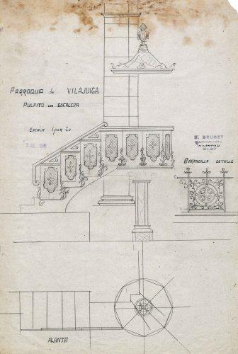 Projecte de trona de l'església de Sant Feliu, a Vilajuïga, 1941