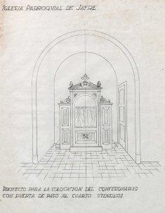 Projecte del confessionari per a l'església de Sant Martí, a Jafre, 1946