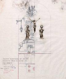 Projecte de l'altar del Calvari de l'església de Sant Martí, a Jafre, 1946