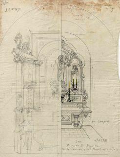 Projecte de l'altar de Sant Boi de l'església de Sant Martí, a Jafre, 1946