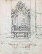 Projecte de l'altar del Sagrat Cor de l'església de Sant Martí, a Jafre, 1946