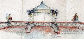 Projecte de la glorieta i de la barana d'una terrassa, sense localitzar, entre els anys 1910 i 1922