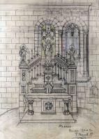 Projecte de l'altar major de l'església de Sant Esteve, a Pedret i Marzà, 1941