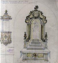 Projecte de decoració de l'església de Sant Maurici, a Sant Mori, 1946