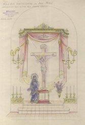 Projecte de l'altar del Sant Crist de l'església de Sant Maurici, a Sant Mori, 1946