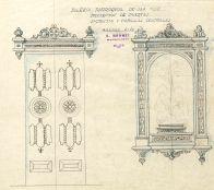 Projecte de porta de la sagristia i de les capelles centrals de l'església de Sant Maurici, a Sant Mori, 1946