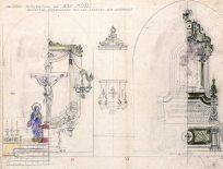 Projecte de decoració dels altars de Sant Maurici, a Sant Mori, 1946