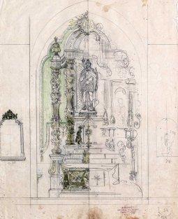 Projecte de l'altar major de l'església de Sant Maurici, a Sant Mori, 1946