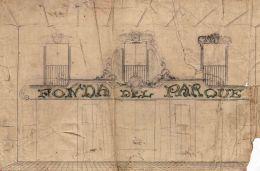 Esbós del rètol de l'Hotel del Parc, 1917