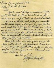 Correspondència sobre la reforma de l'altar major de l'església de Sant Julià, a Fortià, 1956
