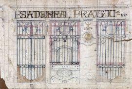 Projecte de la façana de la banca Saderra, Prat y Compañía a Olot, 1916