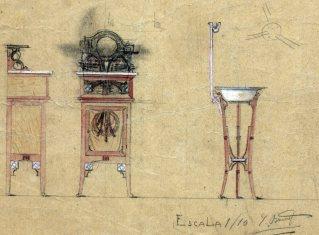 Esbossos de mobles, 1909