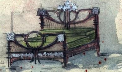 Esbós d'un llit, 1909