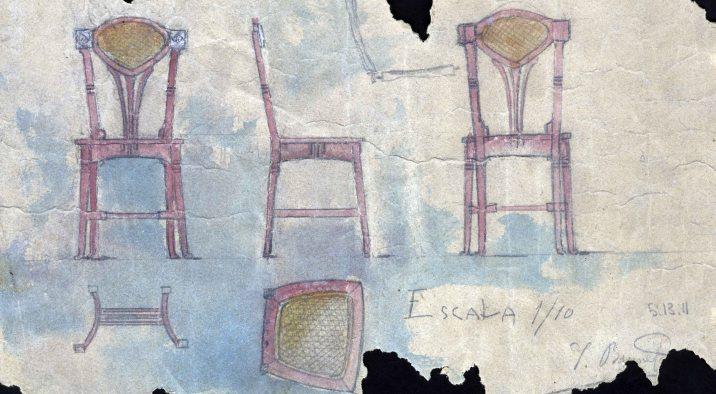 Esbossos d'una cadira, 1909