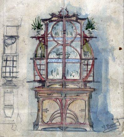 Esbós d'armari, 1909