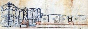 Projecte de la tanca i del banc d'una finca sense localitzar, entre els anys 1910 i 1922
