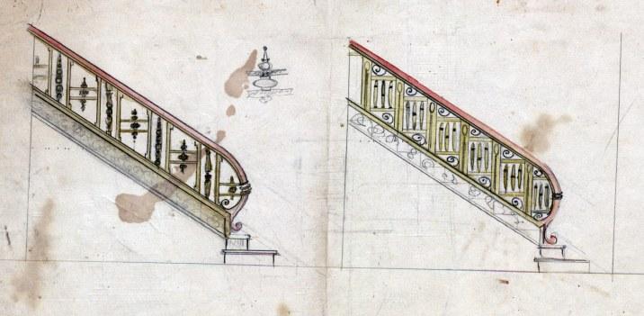 Esbós de les escales de l'Hotel del Parc, 1917