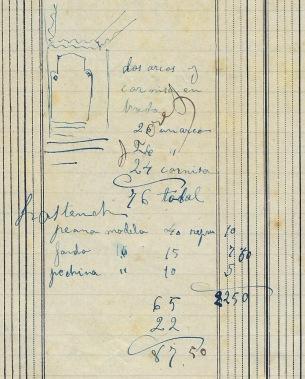 Anotacions sobre treballs i preus a la casa Hostench, 12.4.1916 (ACGAX. Fons Sadurní Brunet Pi. Dietaris)