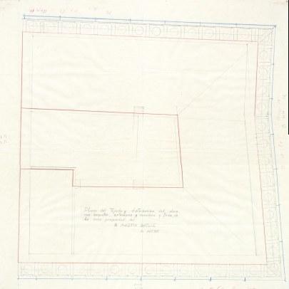 Plànol del projecte de reforma de la casa de Martí Batlle, a Jafre (teulat), 1945