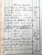 Esborrany de factura dels treballs a l'antiga caserna de la Guàrdia Civil, 9.3.1917 (ACGAX. Fons Sadurní Brunet Pi. Dietaris)