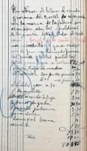 Esborrany de factura dels treballs a l'antiga caserna de la Guàrdia Civil, 30.11.1918 (ACGAX. Fons Sadurní Brunet Pi. Dietaris)