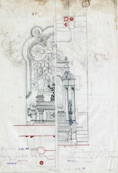 Projectes d'altars a l'església de Santa Eulàlia, a Begudà, 1945