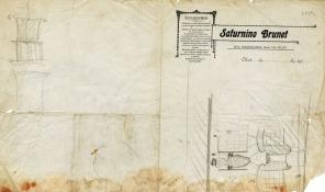 Esbós de la proposta de reforma de Ca l'Artigas, 1918