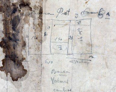 Esborrany amb anotacions diverses relacionades amb la banca Saderra, Prat y Compañía, 1915