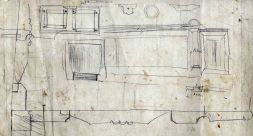 Esbossos del taulell de la sucursal de la banca Saderra, Prat y Compañía al carrer de Sant Esteve, 27, d'Olot, 1915