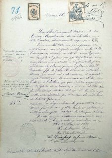 Sol·licitud de permís de llicència d'obres, 27.3.1922 (ACGAX. Fons Ajuntament d'Olot. Expedient de llicència d'obres)