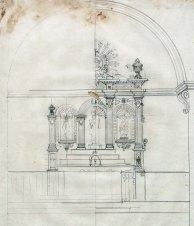 Projecte per completar l'altar major de l'església de Sant Martí del Clot, a la Vall de Bianya, 1946