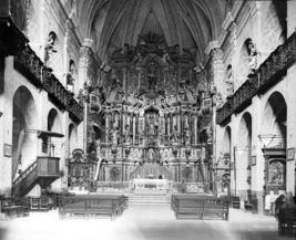 Vista general de l'interior de l'església de Sant Vicenç, a Llançà, 1919 (Biblioteca Nacional de Catalunya. Fons: Arxiu Fotogràfic Centre Excursionista de Catalunya. Foto: Carles Fargas i Bonell)