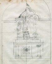 Esbossos d'altars de l'església de Sant Martí de Capsec, a la Vall de Bianya, 1944