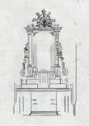 Projecte de l'altar de la Puríssima de l'església de Sant Jaume de Llierca, 1947