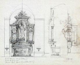 Projecte de l'altar del Sagrat Cor de l'església de Sant Jaume de Llierca, 1947