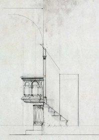 Projecte de trona de l'església de Sant Jaume de Llierca, 1949