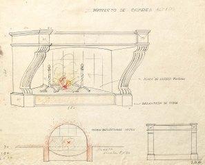 Projecte d'una xemeneia per al castell de Sant Mori, 1946