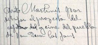 Anotació sobre el projecte del cine de Sant Joan les Fonts, 30.6.1918 (ACGAX. Fons Sadurní Brunet Pi. Dietaris)