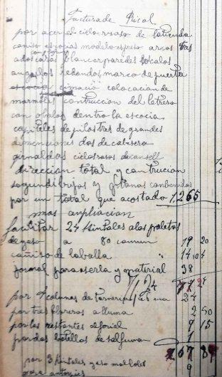 Esborrany de la factura de la Botiga Ricolt, 28.9.1918 (ACGAX. Fons Sadurní Brunet Pi. Dietaris)