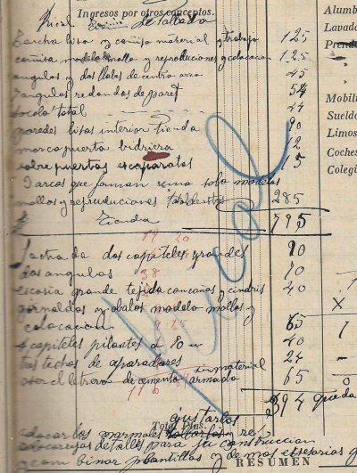 Esborrany de la factura de la Botiga Ricolt, 29.9.1918 (ACGAX. Fons Sadurní Brunet Pi. Dietaris)