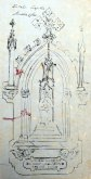 Detall ampliat de la capelleta de Sagrat Cor, 1921 (ACGAX. Fons Ajuntament d'Olot. Expedient de llicència d'obres)