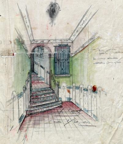 Projecte de reforma d'una entrada sense localitzar, 1925