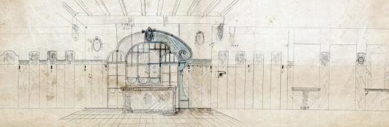 Projecte de reforma d'un interior sense localitzar, entre els anys 1913 i 1920