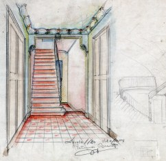 Projecte de reforma d'un vestíbul sense localitzar, 1916