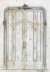 Esbós d'una porta, 1917