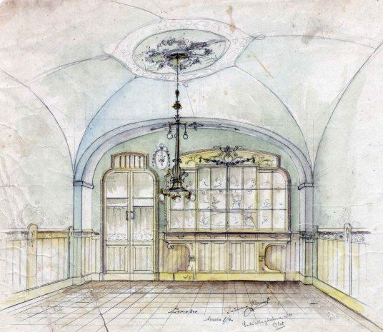 Projecte de reforma del menjador de la casa Blanch, a Argelaguer, 1914