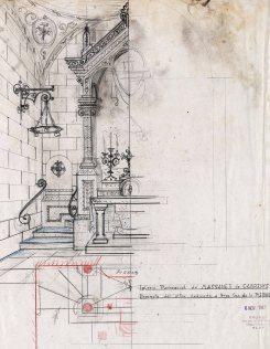 Projecte de l'altar de la Pietat de l'església de Sant Martí, a Maçanet de Cabrenys, 1946