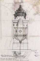 Projecte de reforma de la trona de l'església de Sant Martí, a Maçanet de Cabrenys, 1946