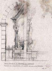 Projecte per complementar l'altar de la Puríssima de l'església de Sant Martí, a Maçanet de Cabrenys, 1946