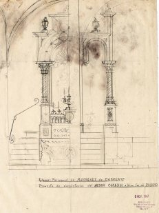 Projecte per complementar l'altar del Roser de l'església de Sant Martí, a Maçanet de Cabrenys, 1946